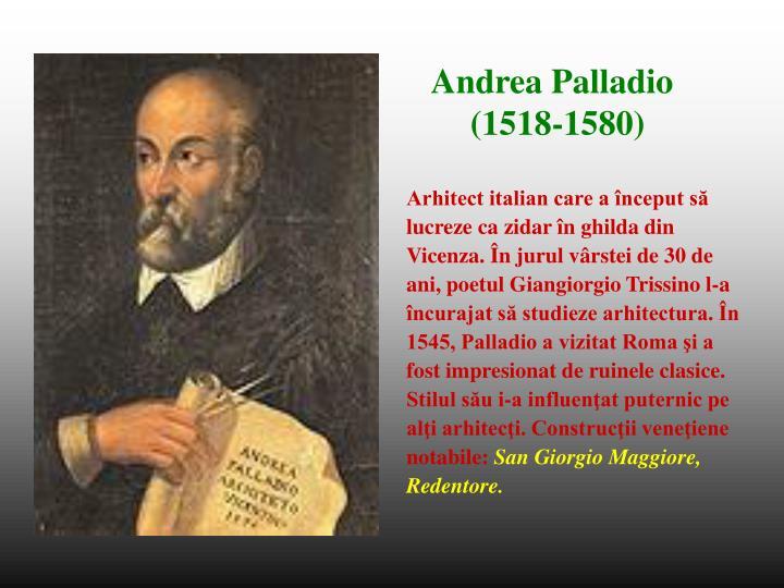 Arhitect italian care a început să
