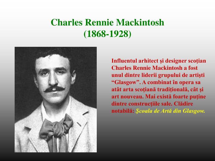 Influentul arhitect şi designer scoţian