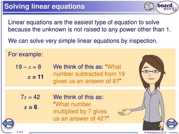 Solving linear equations1