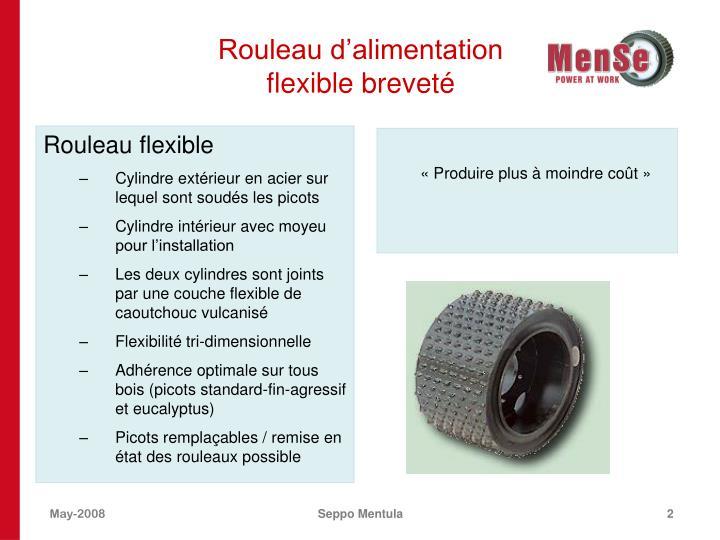 Rouleau d alimentation flexible brevet
