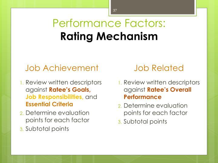 Performance Factors:
