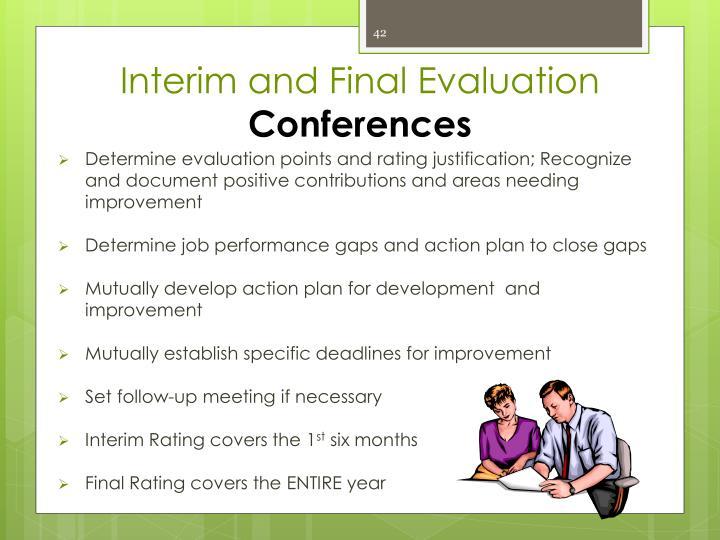 Interim and Final Evaluation