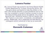lenora foster