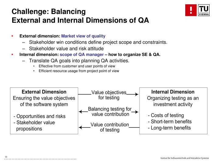 Challenge: Balancing