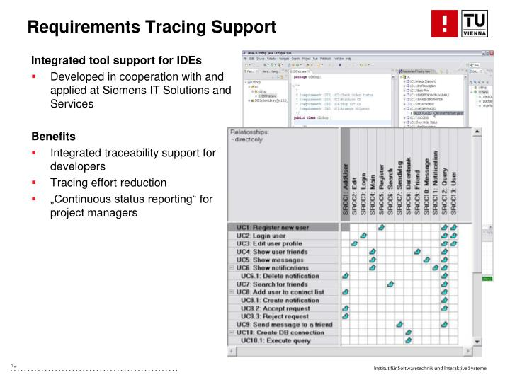 Requirements Tracing Support