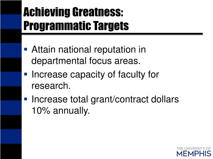 Achieving Greatness: