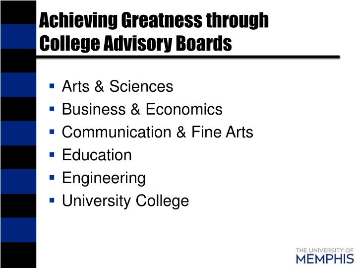 Achieving Greatness through