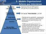 3 modelo organizacional actores que intervienen