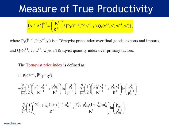 Measure of True Productivity