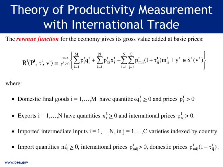 Theory of Productivity Measurement