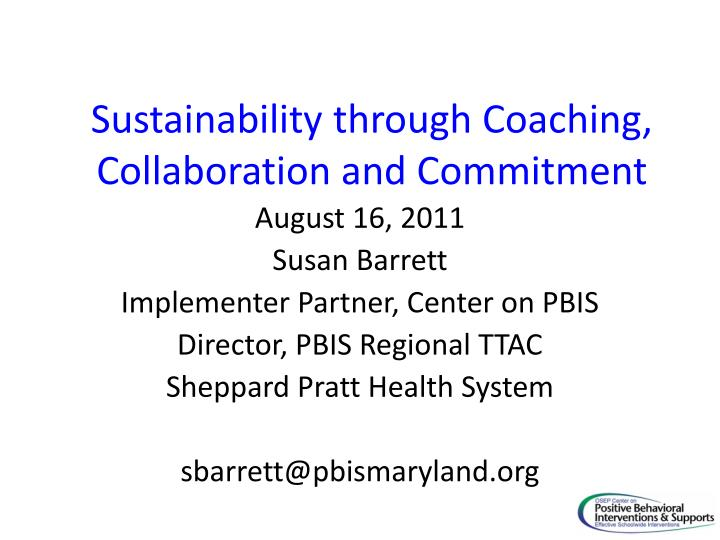 sustainability through coaching collaboration and commitment n.