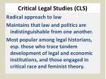 critical legal s tudies cls
