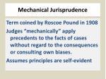 mechanical jurisprudence