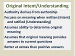 original intent understanding