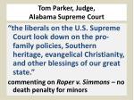 tom parker judge alabama supreme court