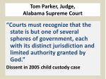 tom parker judge alabama supreme court1