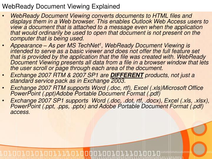 WebReady Document Viewing Explained