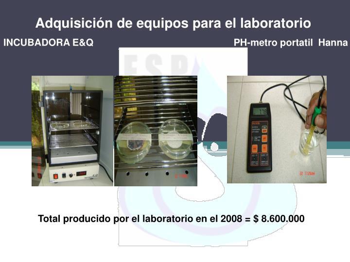 Adquisición de equipos para el laboratorio