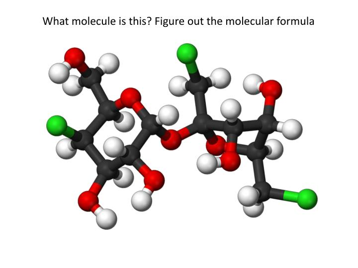 What molecule is this? Figure out the molecular formula