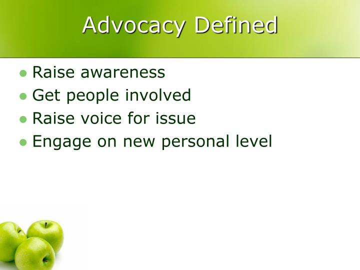 Advocacy Defined
