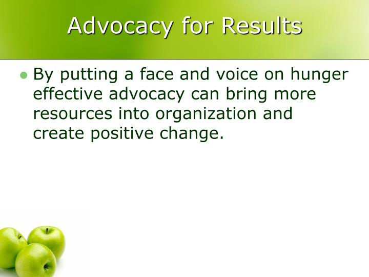 Advocacy for results2