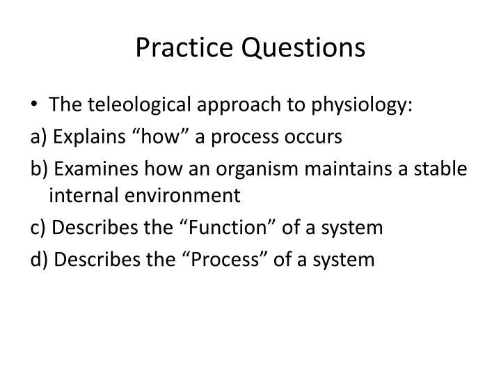 Practice Questions