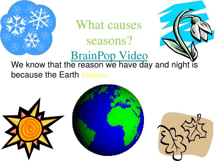 What causes seasons?