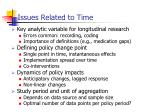 issues related to time