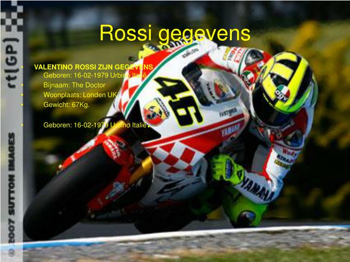 Rossi gegevens