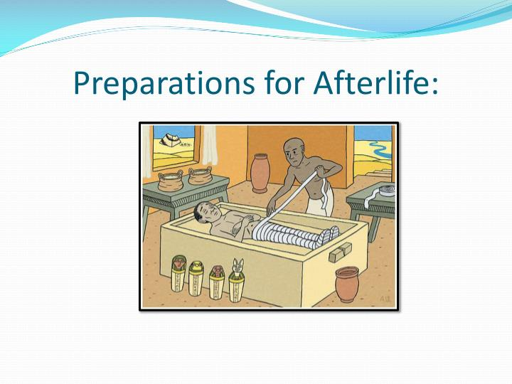Preparations for Afterlife: