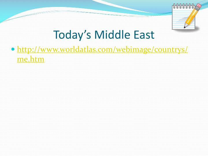 Today's Middle East