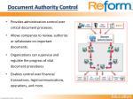 document authority control