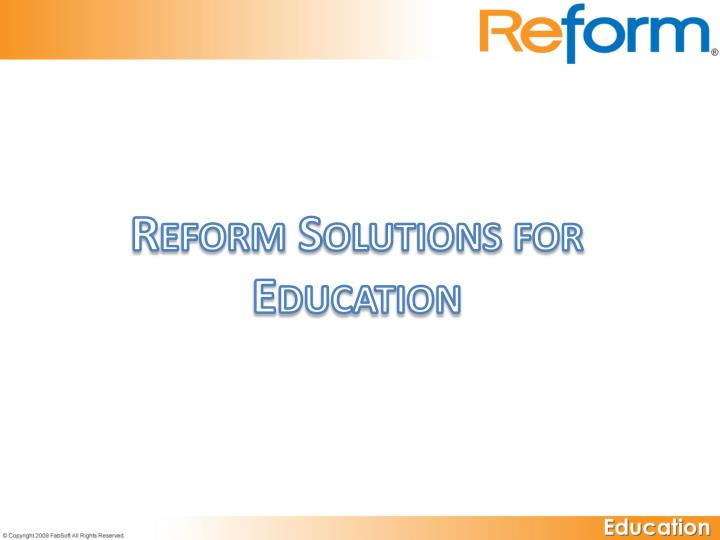 reform solutions for education n.