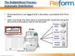 the bubblesheet process automatic distribution