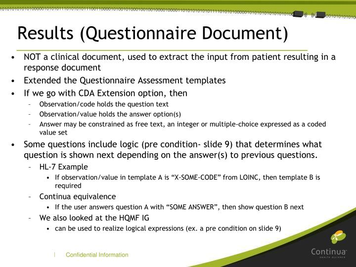 Results (Questionnaire Document)
