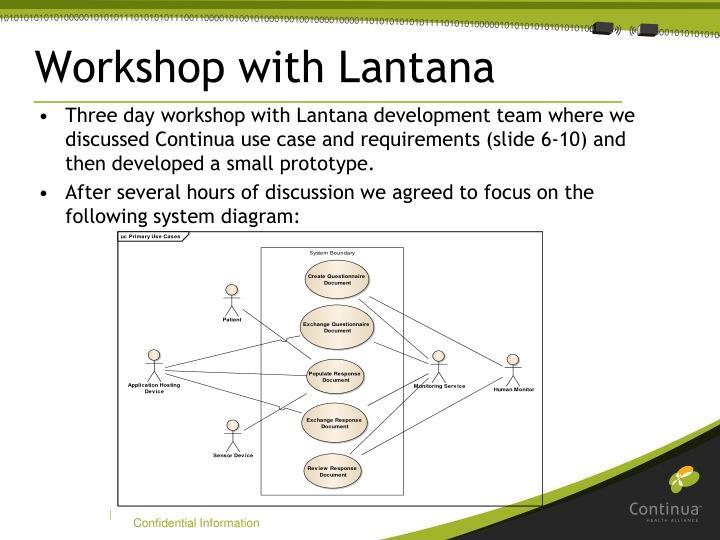 Workshop with Lantana