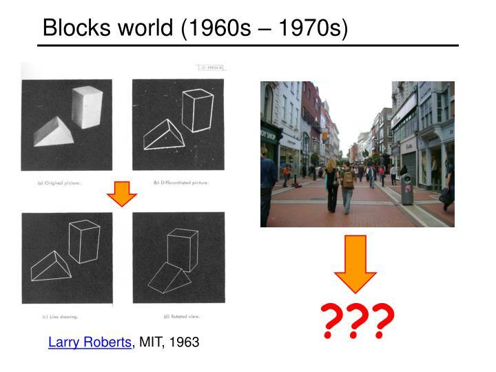Blocks world (1960s – 1970s)