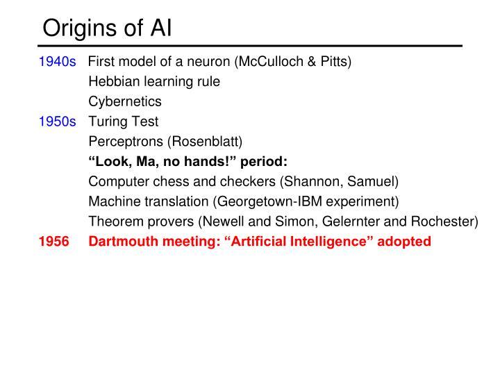 Origins of ai