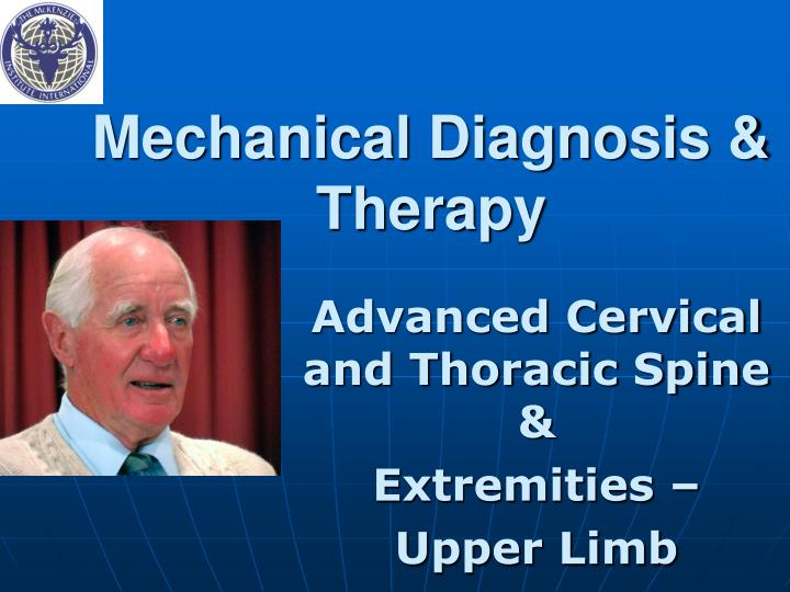 mechanical diagnosis therapy n.