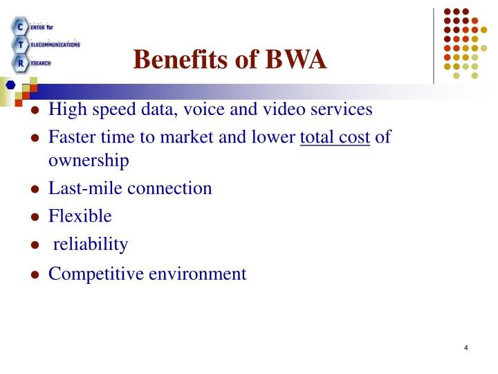 Benefits of BWA