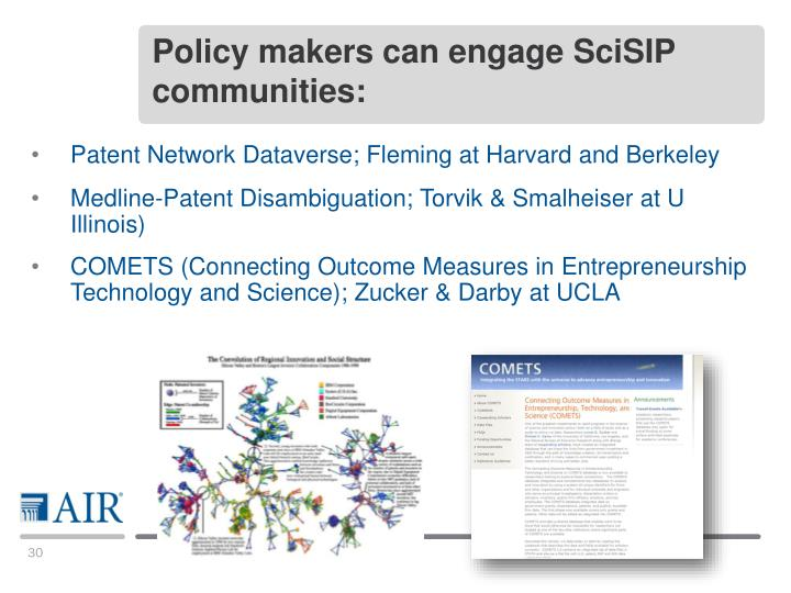 Policy makers can engage