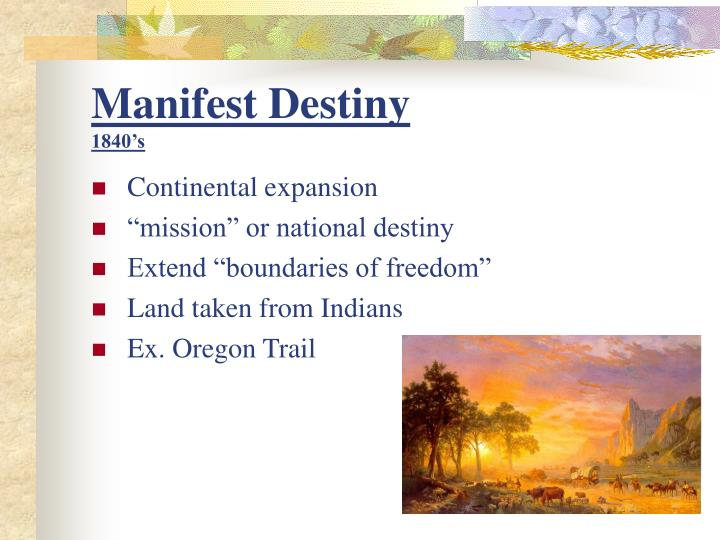 manifest destiny essay from indians point of view Brief biography of james k polk in manifest destiny & mexican-american war.