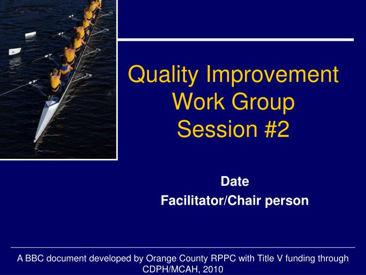 quality improvement report The quality report contains results for quality program and reports it is inherent to paramount's philosophy that quality improvement is not the.