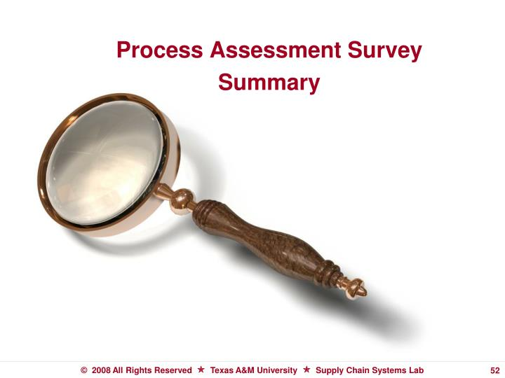 Process Assessment Survey