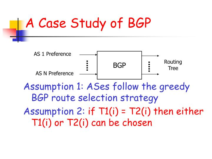 A Case Study of BGP