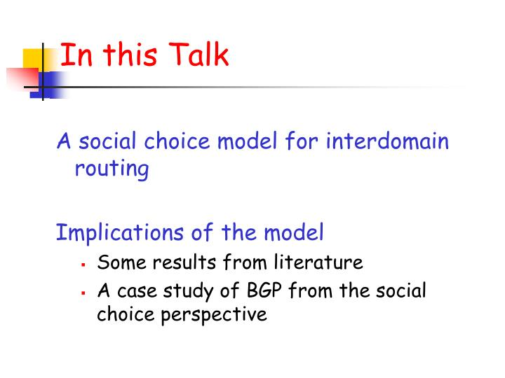 In this Talk