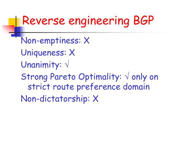 Reverse engineering BGP