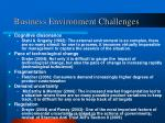 business environment challenges
