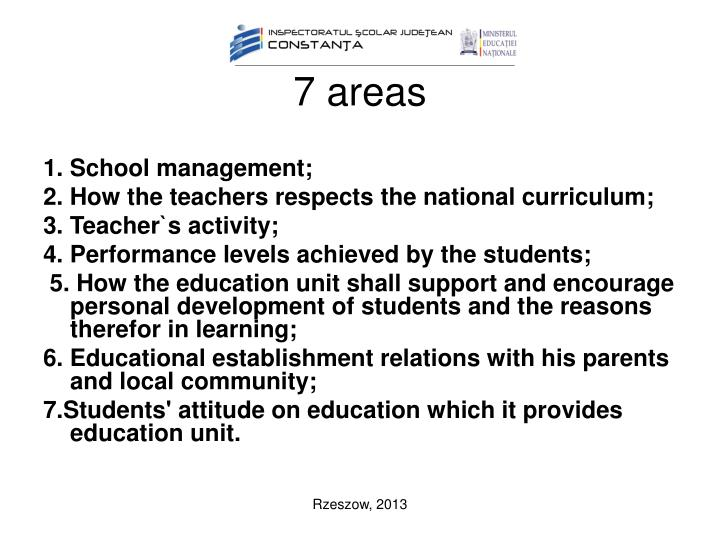 7 areas