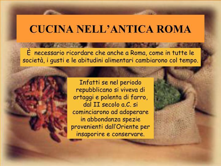 Ppt a tavola con i romani powerpoint presentation id for Cucina antica roma